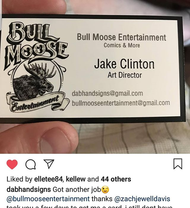 Bull moose entertainment is very happy to introduce it's art director and incredibly talented hand lettered/ sign painter @dabhandsigns to the team! Very excited to have you, sir! #comicbooks#createcomics#comics#indiecomics#comicpublisher#publisher#publishing#makecomics#michigan#puremichigan#craftbeer#properglassware