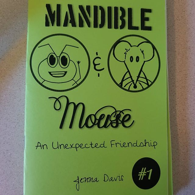 Don't miss out on our first comic zine and 2nd product available (Crimson Rider available now!) Mandible & Mouse, an unlikely friendship. Art and story by Jenna Davis! #zine#comiczine#indiecomics#publisher#allages
