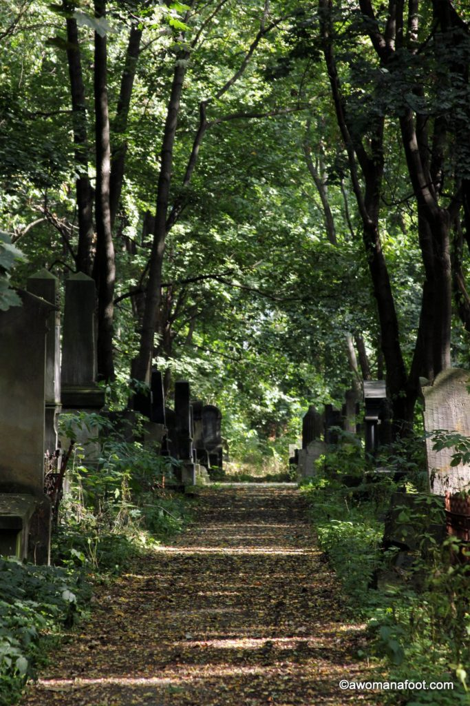 Discover the History and Symbolism of the Okopowa Jewish Cemetery in Warsaw at awomanafoot.com | Unique and off the beaten path things to do in Warsaw | Jewish History in Poland | Polish Jewry | What to do in Warsaw | Culture Travel in Europe | Historical Cemeteries in Europe | Jews of Poland | Judaism| #Warsaw #Poland #Travel #Cemetery #JewishHistory #Jews #Judaism