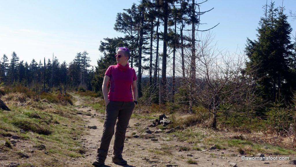 Check out one of the best day hikes Silesian Beskids have to offer - great views, challenging trails and cheap accommodation - don't miss it! Day Hike #3: Wisła Głębce - Stożek Wielki - Wisła Dziechcinka. Awomanafoot.com   women hikers   Beskid   Poland   hiking trails   Wisła   Carpathians   Hiking in Poland   solo   awomanafoot.com