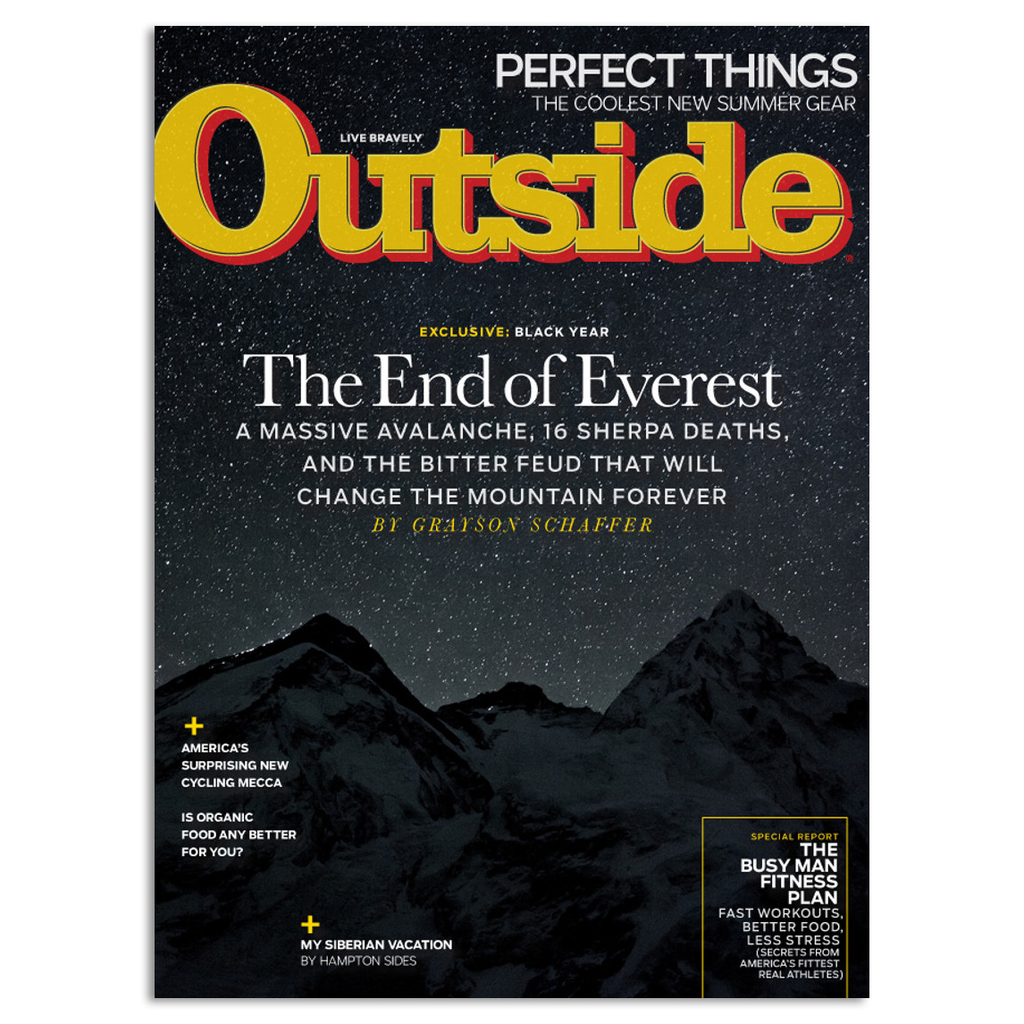 Outside Magazine Subscription - This is such a great magazine, I love reading their articles, they are informative and inspiring.