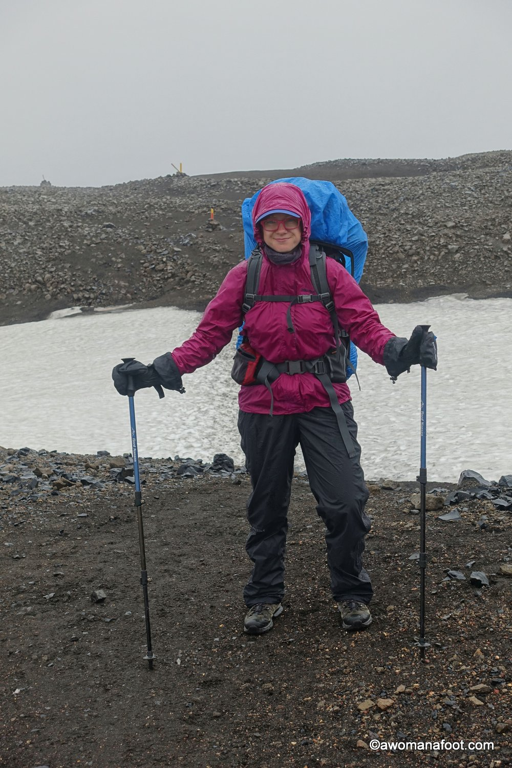 Marmot PreCip rain jacket - during a hike in Iceland. Paired with Marmot PreCip rain pants - the perfect combo for  Icelandic summer !
