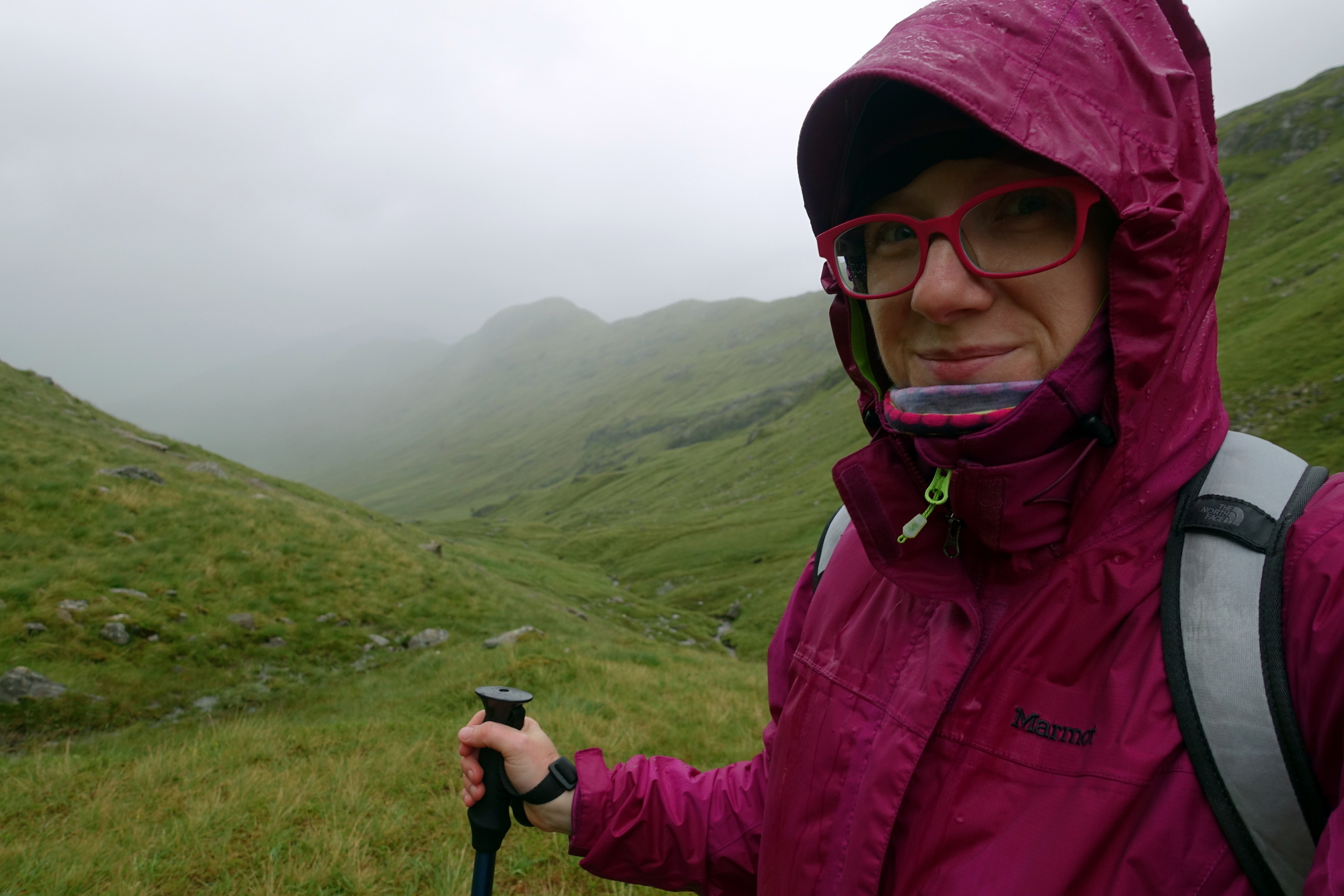 Marmot PreCip Rain jacket  braving the Scottish weather at the start of the Cape Wrath Trail