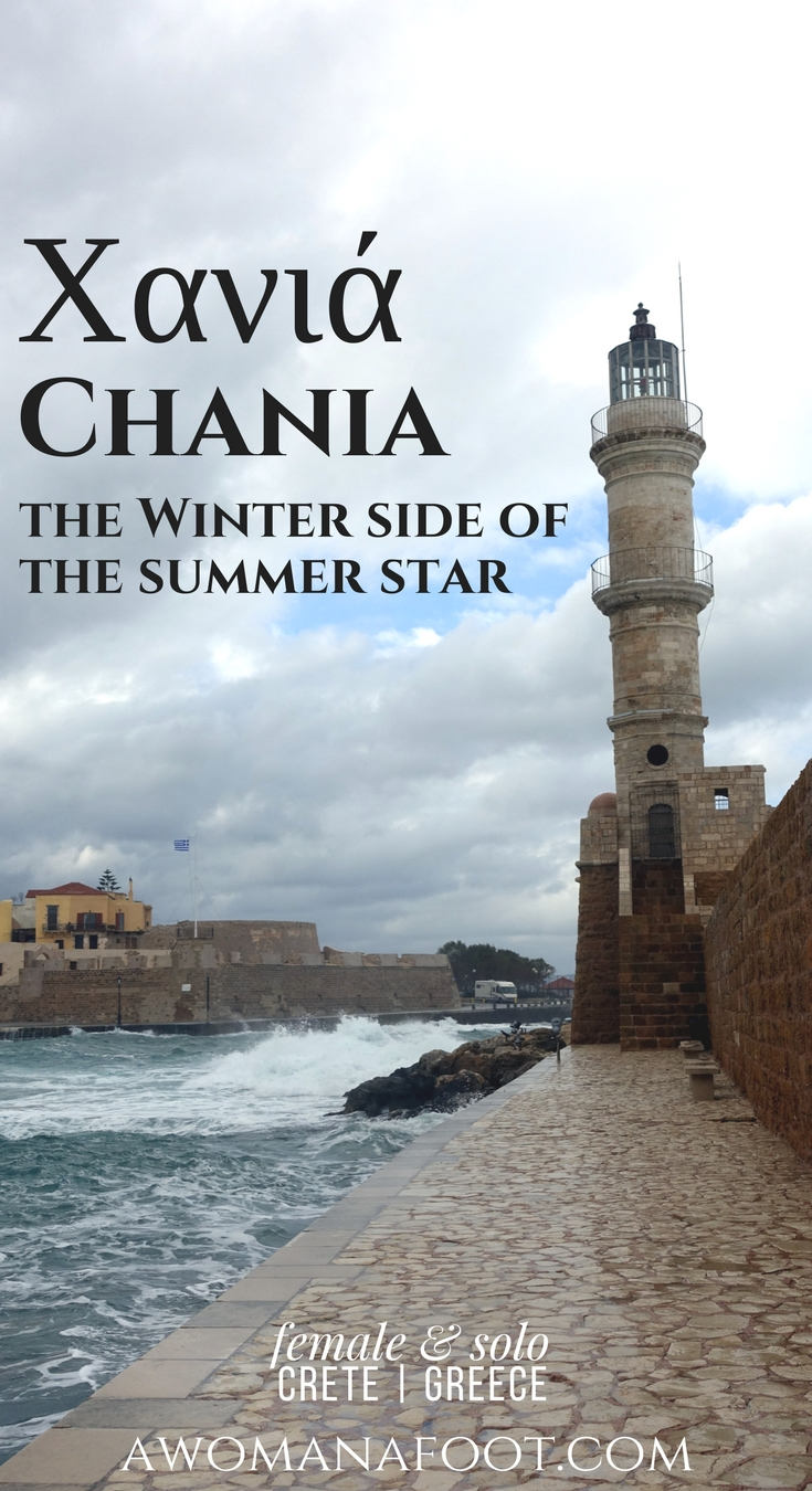 Did you think summer was the only time to visit Crete? Think again! Click to see the dramatic images of winter in Chania! #Crete #Grece #solo #travel Awomanafoot.com