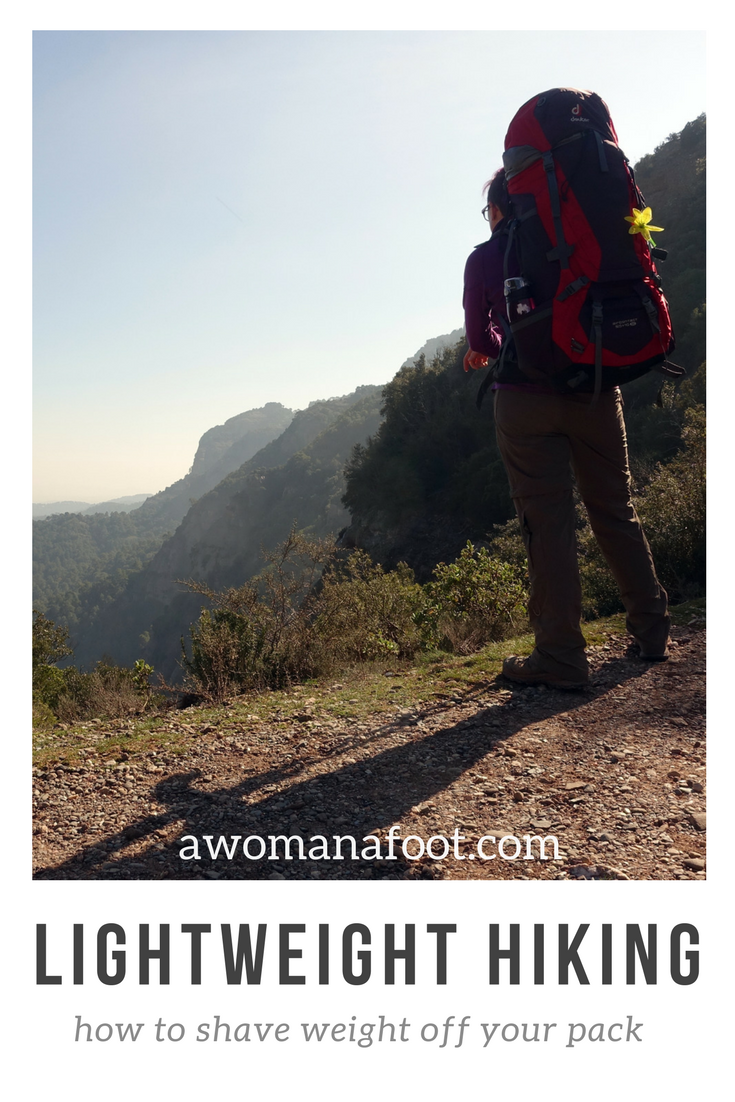 Going light has a lot of benefits to our health and comfort of hiking. But how to do it without bankrupting or going crazy? Check my full guide for an easy and gradual transition to a lighter hiking! awomanafoot.com | #hiking #camping #gear #ultralight #UL | How to hike lightweight | Hiking advice for beginners | Hiking 101 | What hiking and camping gear to get | Camping gear for beginners |