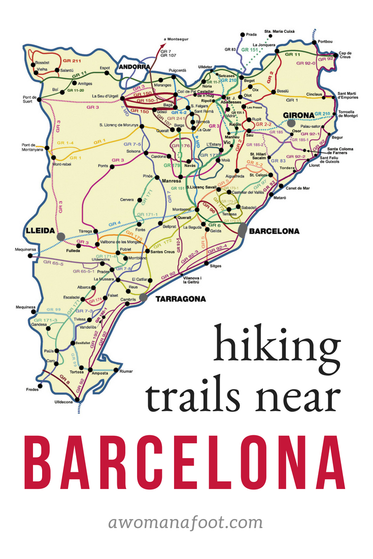 Hiking near Barcelona: mesmerizing views and rich cultural heritage. Find the perfect trail for your hiking adventure in Catalonia! Perfect day hikes and multiple-days treks.   hiking trails   hiking destinations   hiking solo   hiking in Western Europe   European Hiking Trails   Travel to Catalonia   What to do in Spain   #hiking in #Spain, #Catalonia near #Barcelona   awomanafoot.com