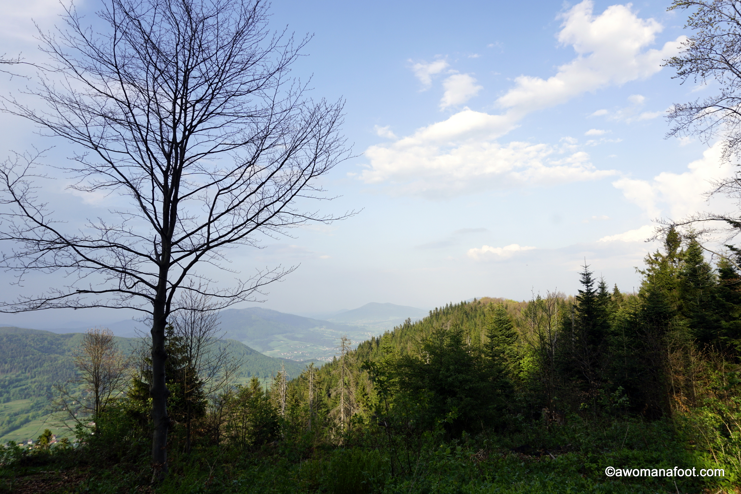 Are you interested in unusual hiking destinations? Check what Beskid Wyspowy (the Island Beskid Mountains) is all about! Poland is an excellent place for all hikers and adventure seekers! Learn more about hiking in Poland @ AWOMANAFOOT.COM. Hiking trails in Europe | Long-distance hiking | female and solo hiking destinations | women hikers | #hiking #Poland #trail #Beskid #Mountains #Europe #trekking #adventure #trekking #solo #femalehiker