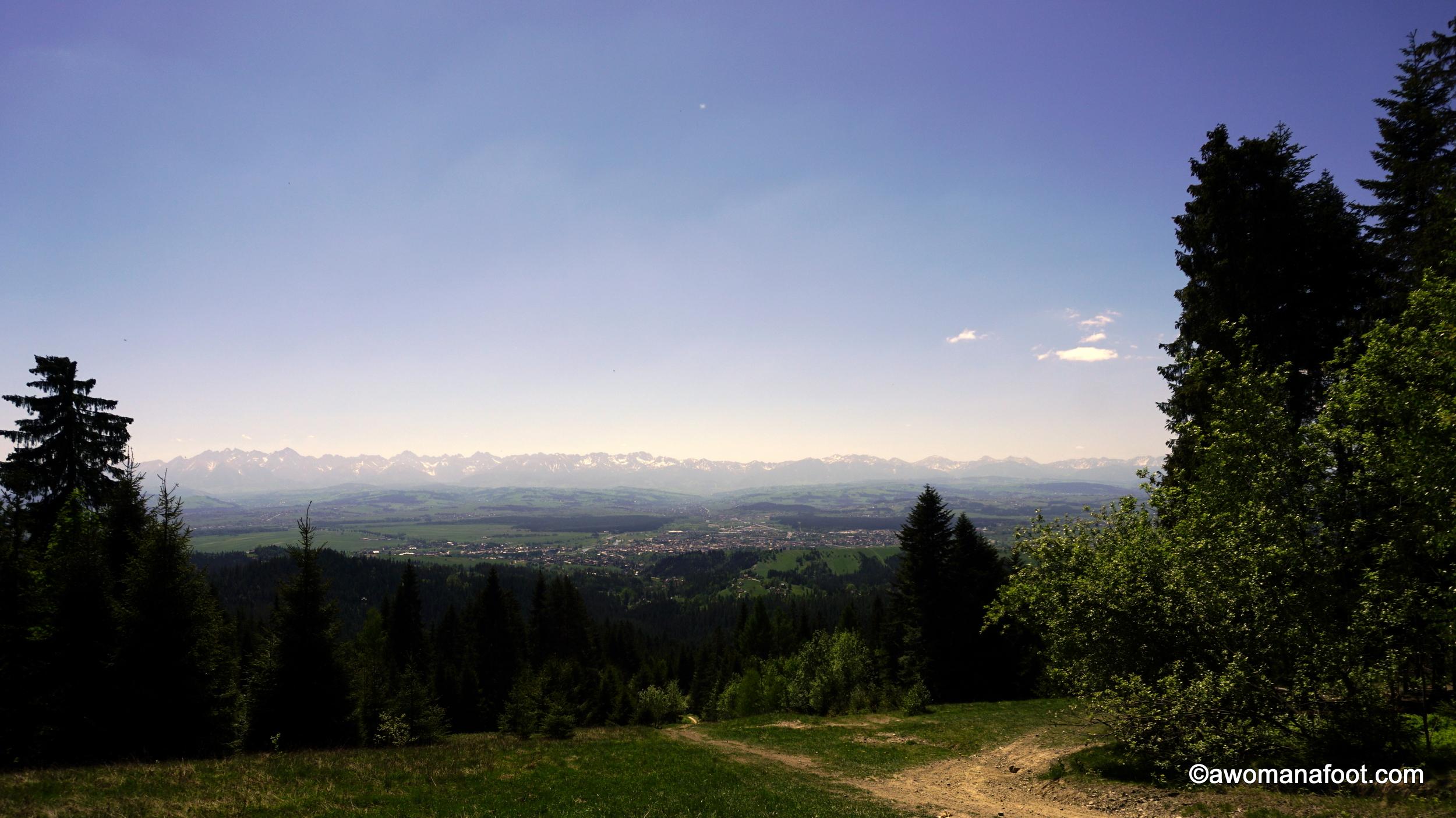 Female solo hiking Gorce Mountains Turbacz Poland