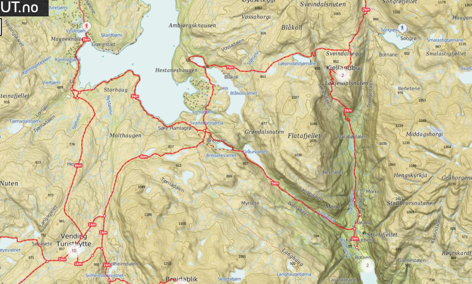 hiking solo Norway Vending Voss Bergen
