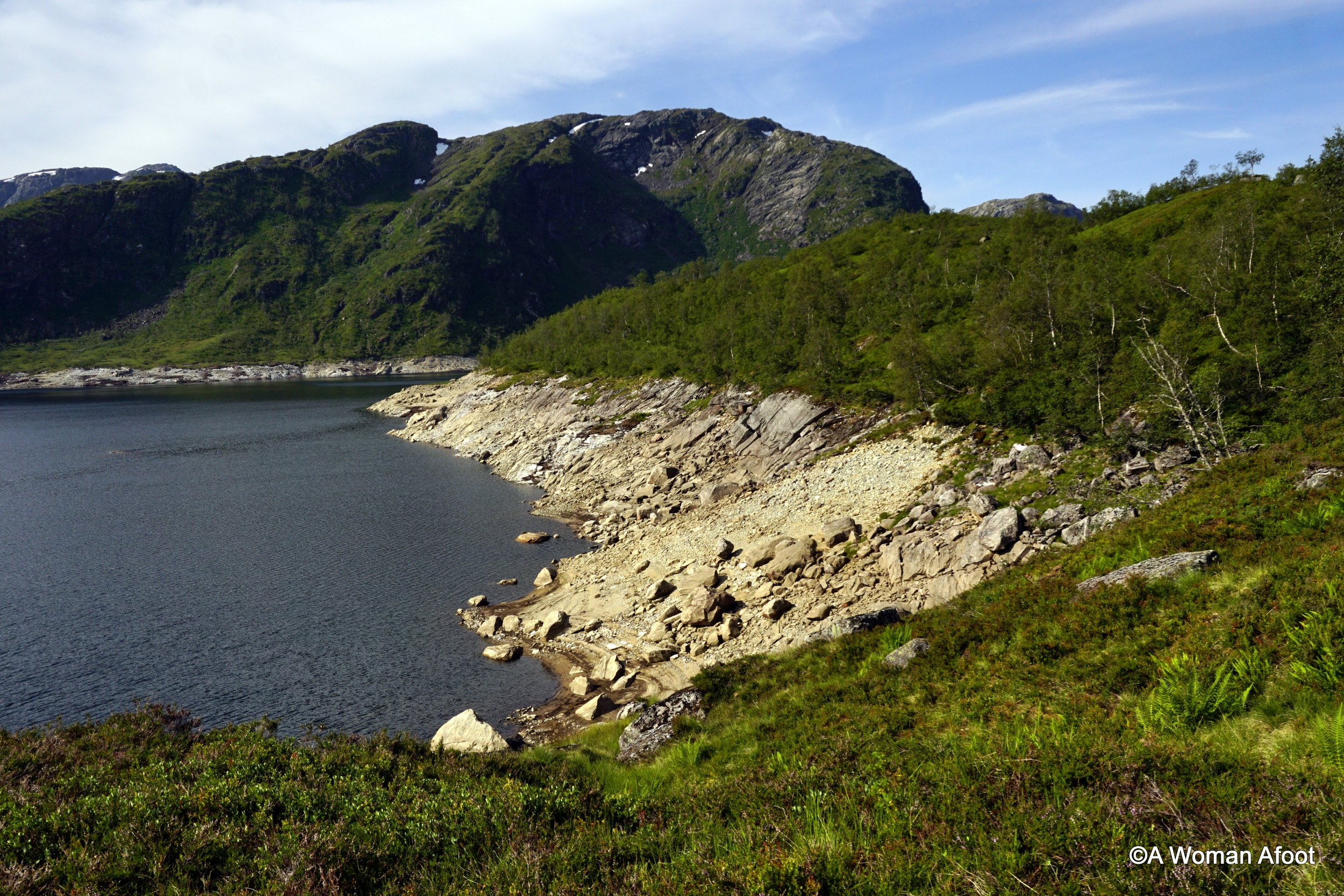 female hiking solo Norway Bergen Voss