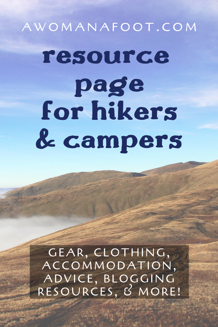 Click to access an online library of hiking & camping resources! Backpacking gear and clothing, online tools, best magazines and Outdoor bloggers to follow, blogging tools and more! @ AWOMANAFOOT.COM. Backpacking advice | Blogging Advice | Outdoor Bloggers | Outdoor Gear and Clothes | Female & solo hikers | Camping and Hiking advice | Gear Reviews | Mental Health and Anxiety | #hiking #camping #gear #advice #Anxiety #Backpacking #trekking #review #female #solo #HikingWomen