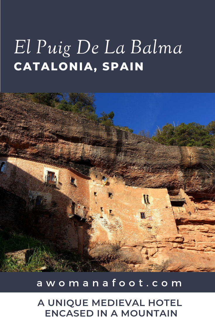 Looking for an unusual place, full of charm, history, and mystery? Make sure you visit El Puig de la Balma in Catalonia, Spain! You can easily hike to it from Mura - another beautiful place! #Spain | #Catalonia | #travel | #solo | #hotel | #review | awomanafoot.com