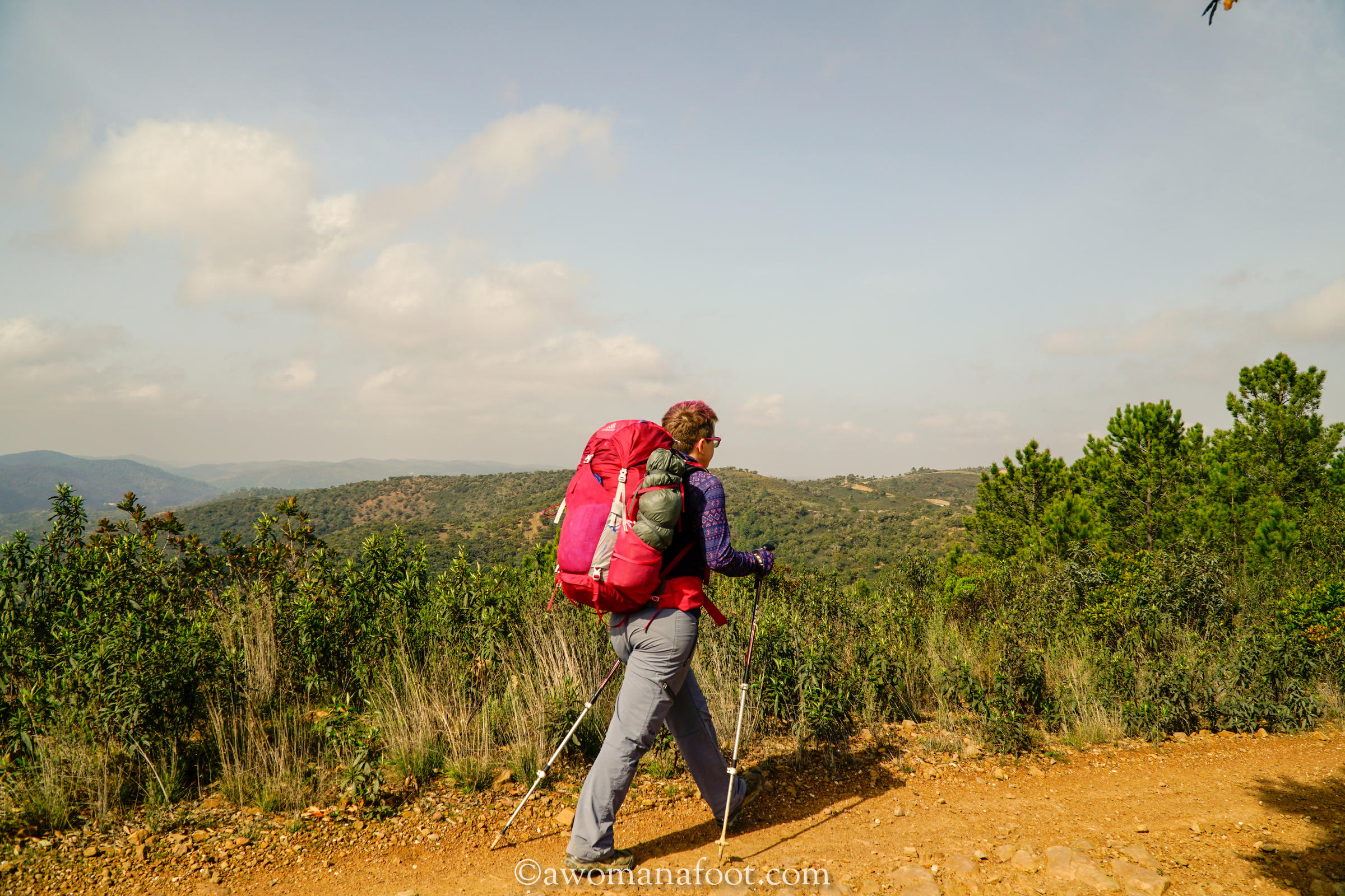Hiking solo in Portugal on the Via Algarviana Trail! Click to read about the section from Barranco do Velho, through Messines, Alte to Silves @awomanafoot.com. Active travel in Portugal | Hiking trails in Europe | Female solo hikers | Anxiety | What to do in Algarve | #Hiking #Portugal #Algarve #ViaAlgarviana #HikingSolo #Outdoors #Anxiety #wildcamping #EuropeanTrail