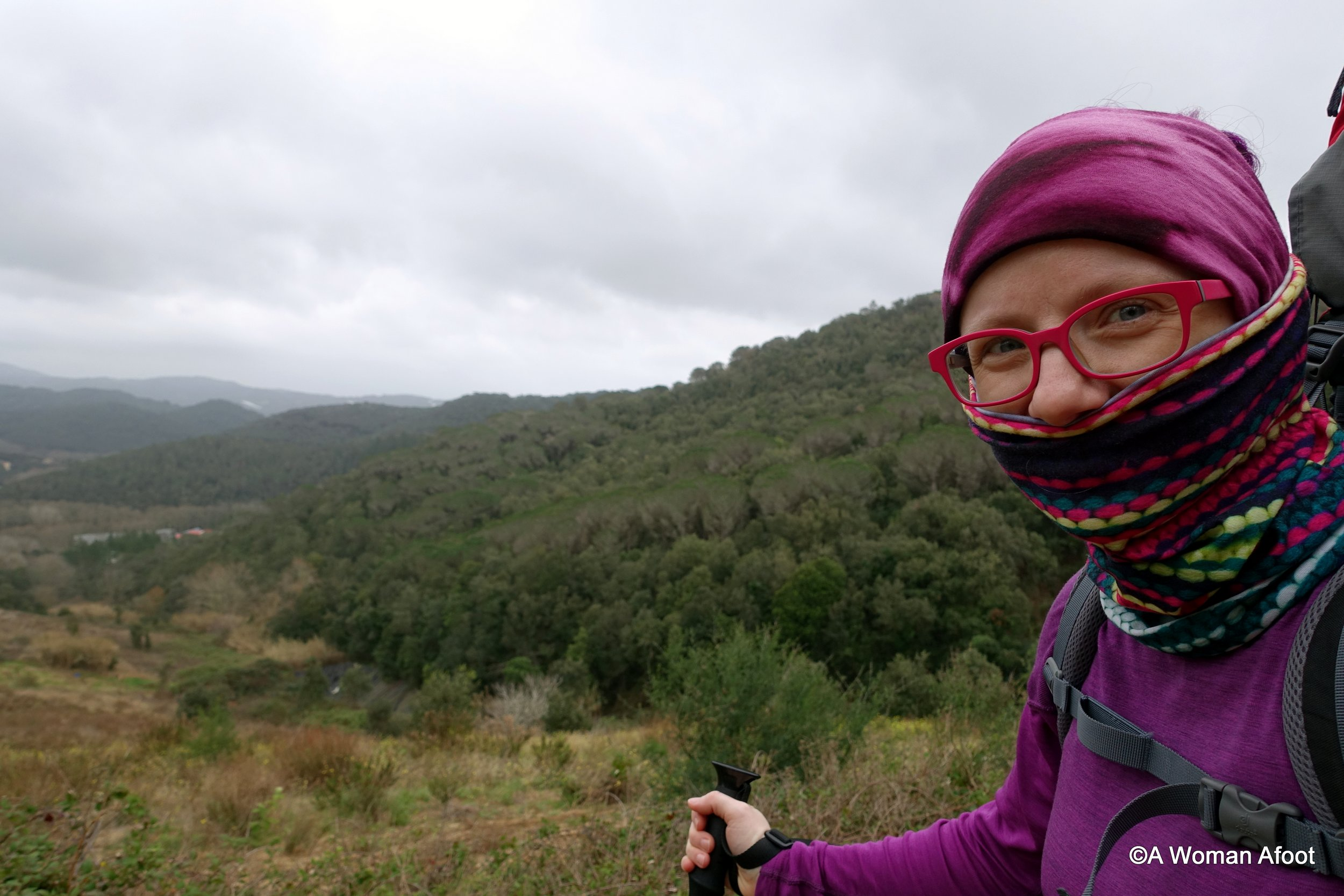Packing list female solo hiking Portugal crete Spain winter