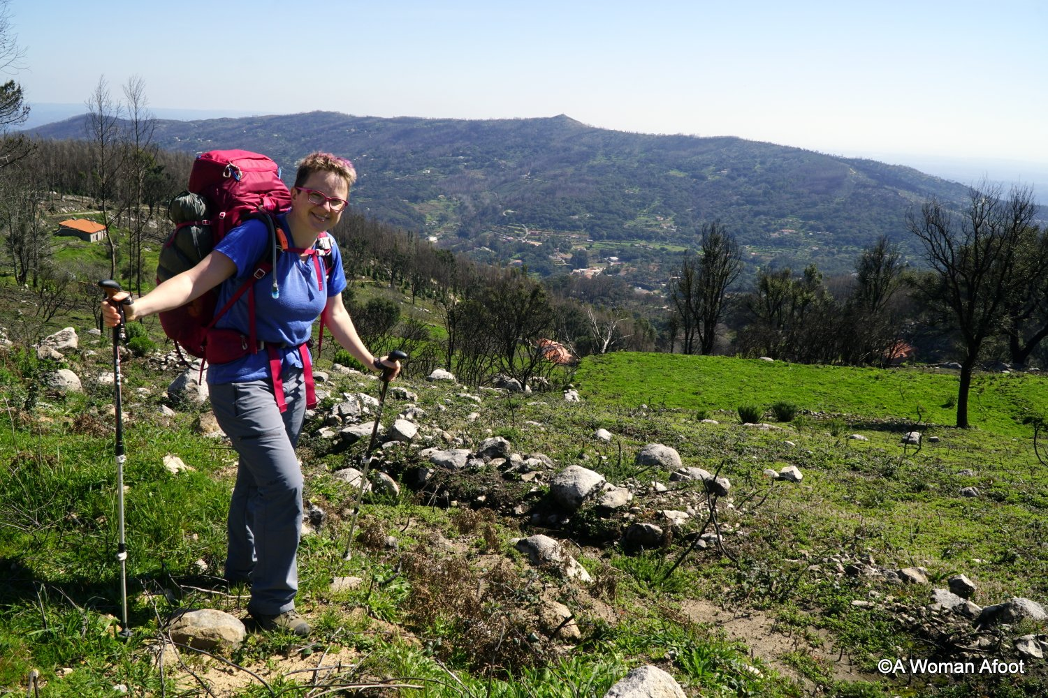 Packing list female solo hiking Portugal crete Spain winter spring