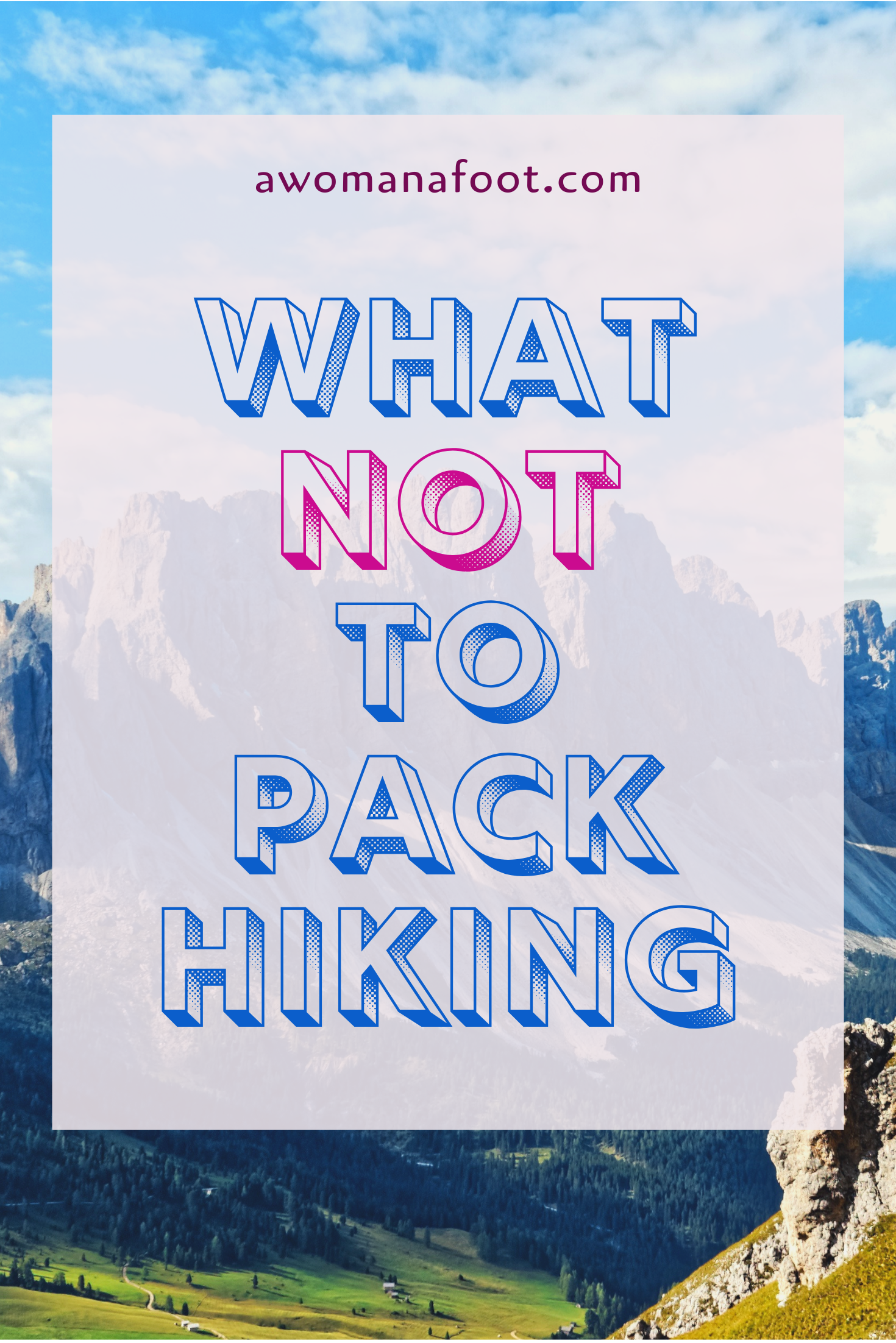 Preparing for a long hike? Make sure you DON'T pack those useless stuff! Safe money and cut on weight by packing only what you need! Learn more tips on lightweight hiking and camping @ Awomanafoot.com   #hiking   #camping   #hikinggear   #hikingtips   #budget   How to save money on hiking gear   How to go ultra-light hiking   What gear I don't need when camping?