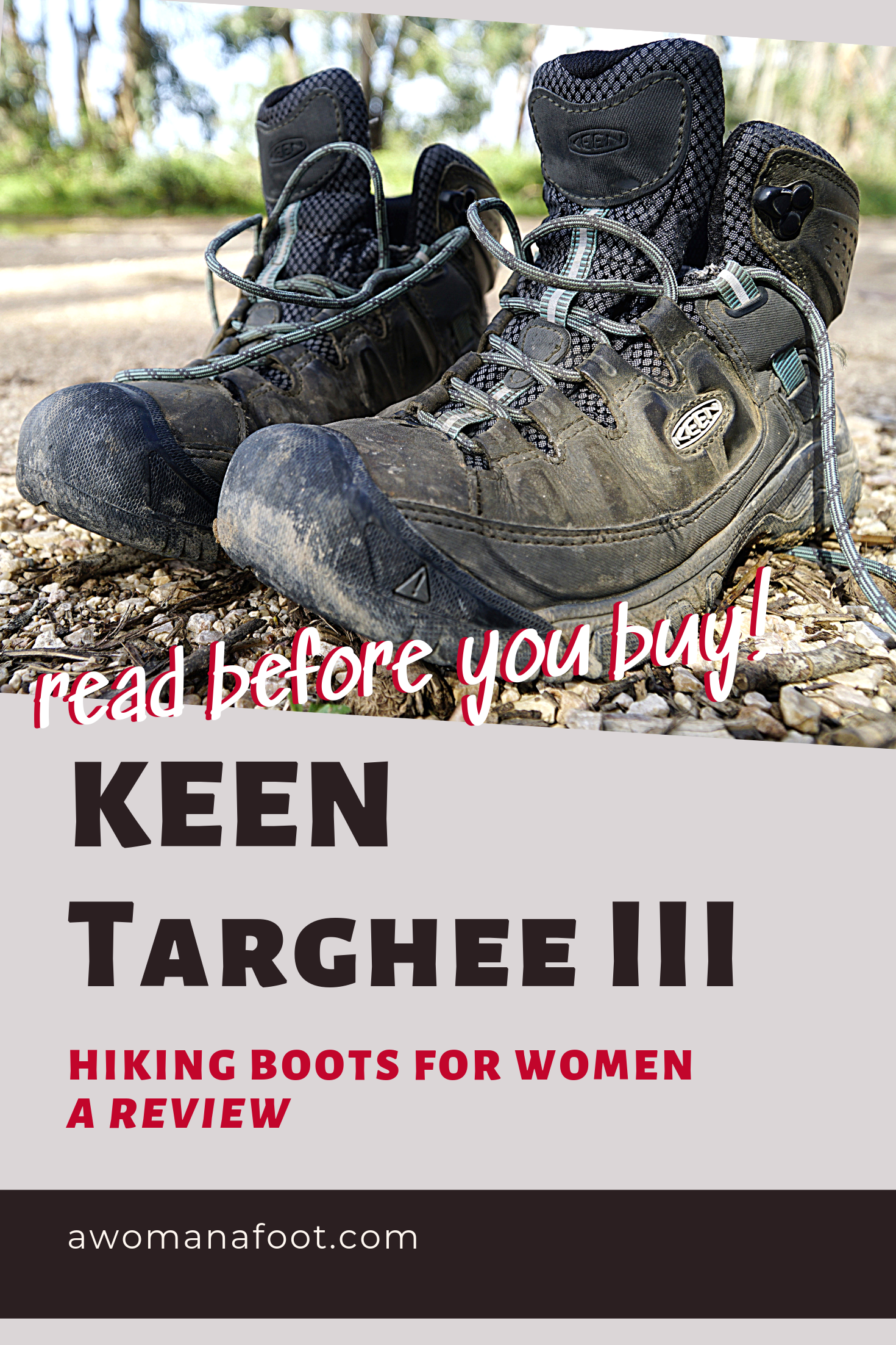 KEEN Targhee III hiking boots for women - a review by awomanafoot.com   Read before you buy!   Trekking boots for women   Hiking Gear   Backpacking Reviews   Gear Review   #Hiking #Boots #KEENTargheeIII #GearReview #BootsForWomen   What boots to buy   What to pack into the mountains   Hiking Attire   #HikingBoots