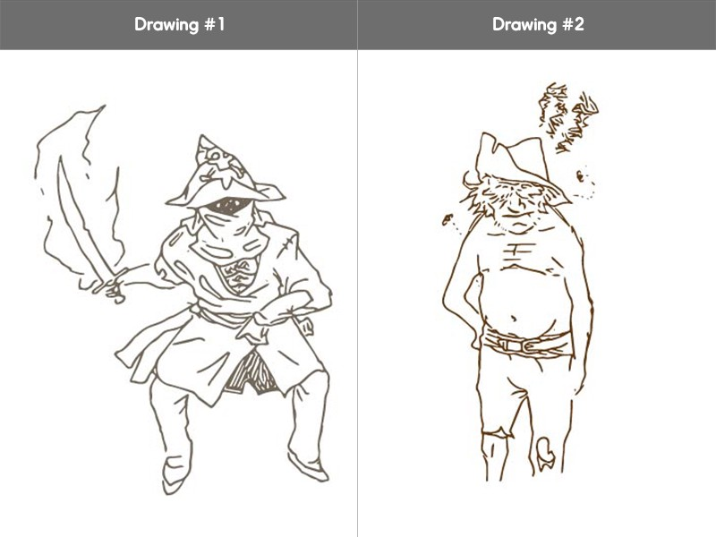 This artist gave us two great examples of different directions you can take with a pirate.