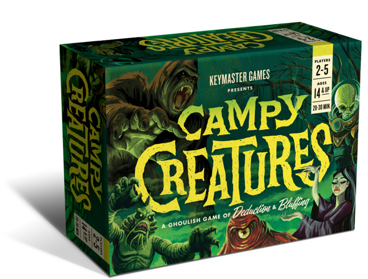 Package design, illustration and branding for the board game Campy Creatures
