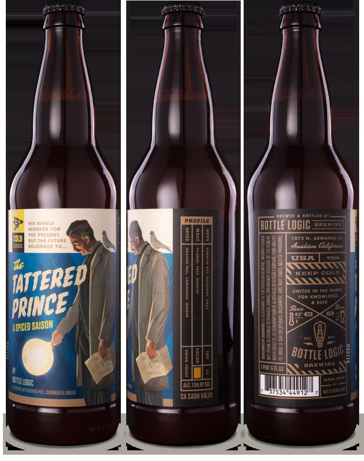 Label design for Bottle Logic's line of cold classics