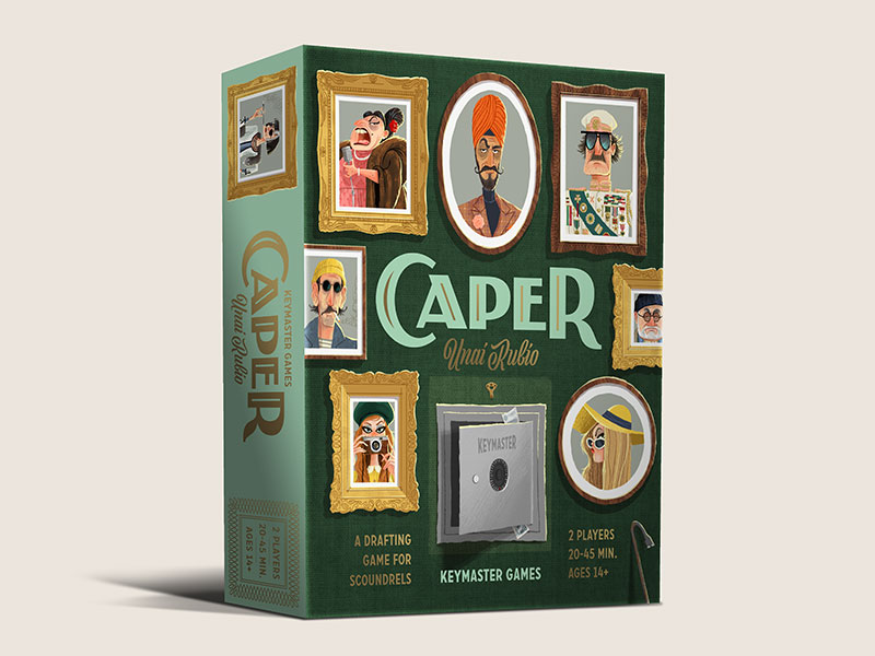 Caper—a drafting game for scoundrels. Coming out summer 2018