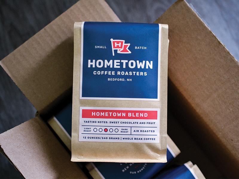 Packaging design for Hometown Coffee Roasters