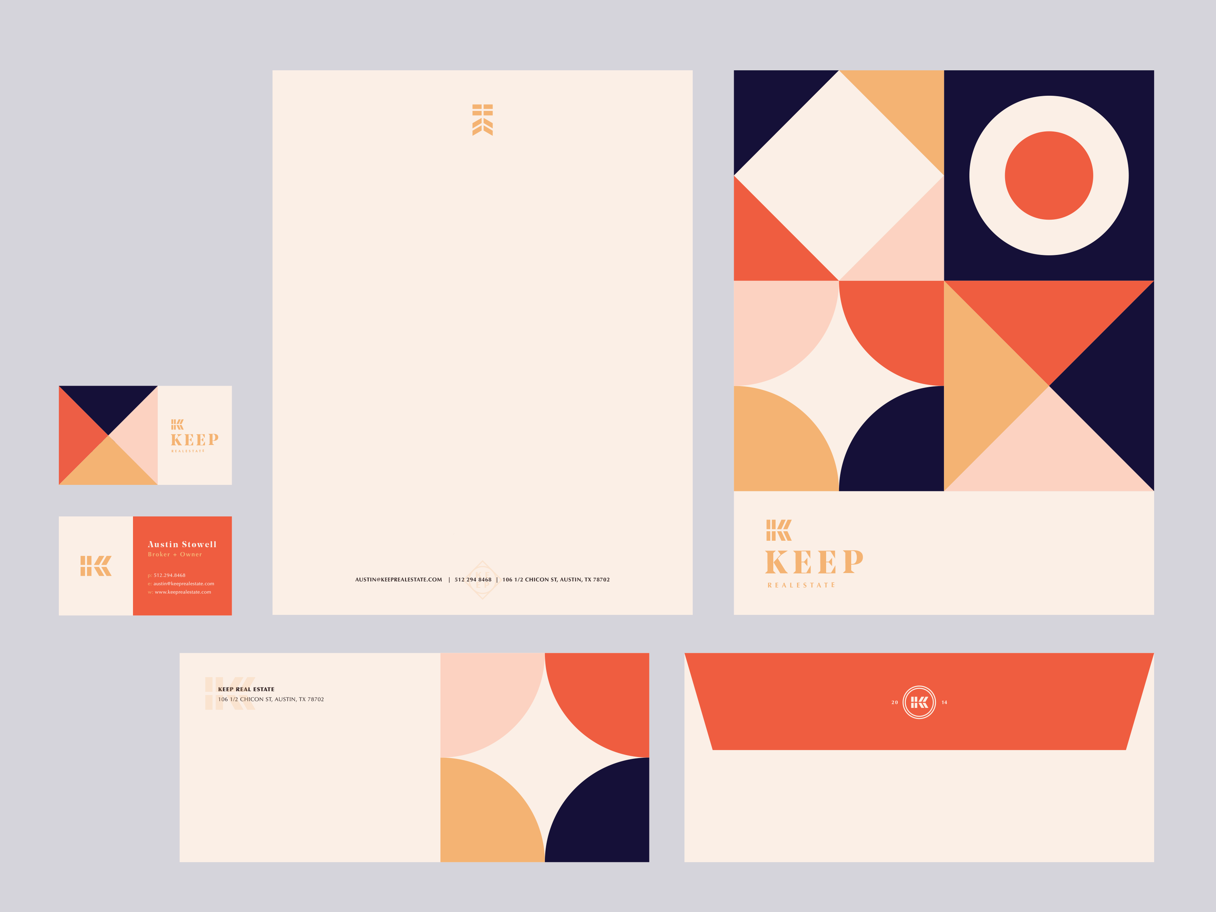 Branded collateral for Keep Real Estate