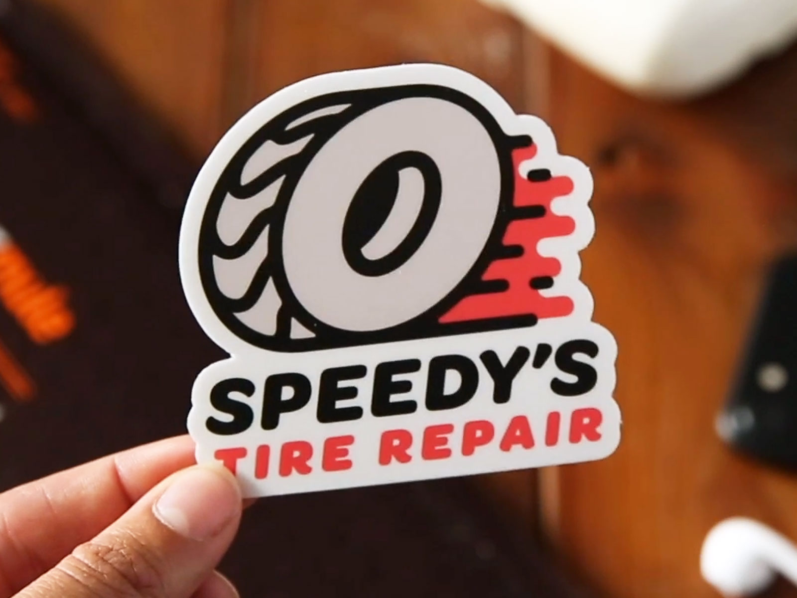 I never thought I'd have to so much fun designed a tire repair service. Go Speedy's!