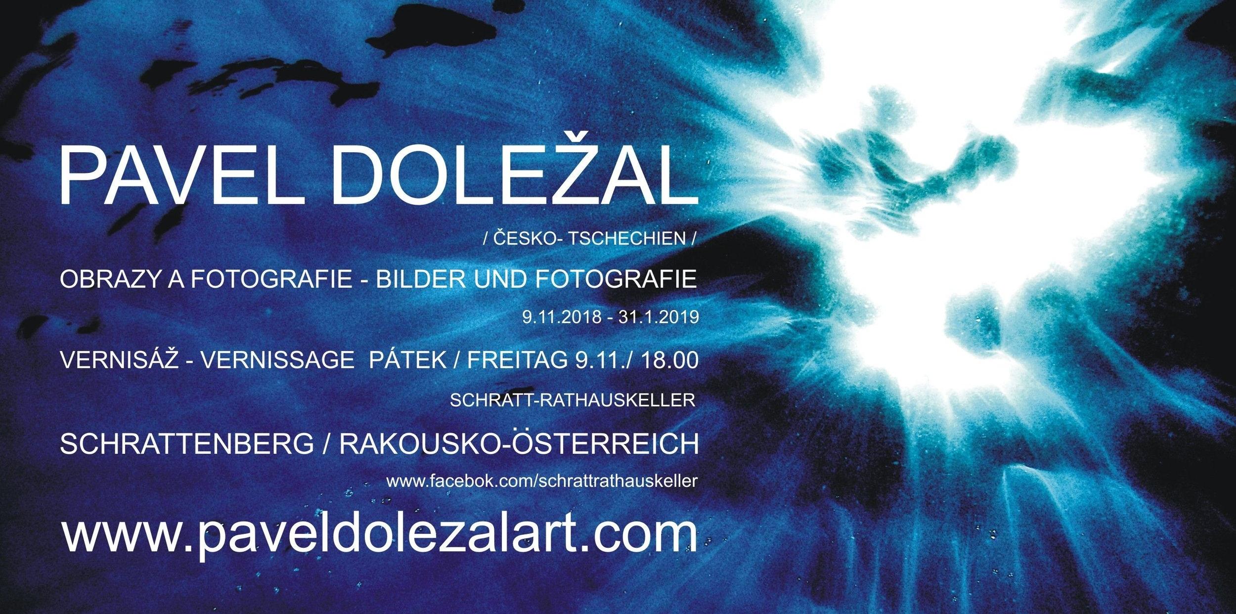 Pozvánka na výstavu ve Schrattenbergu / Invitation for the exhibition in Schrattenberg
