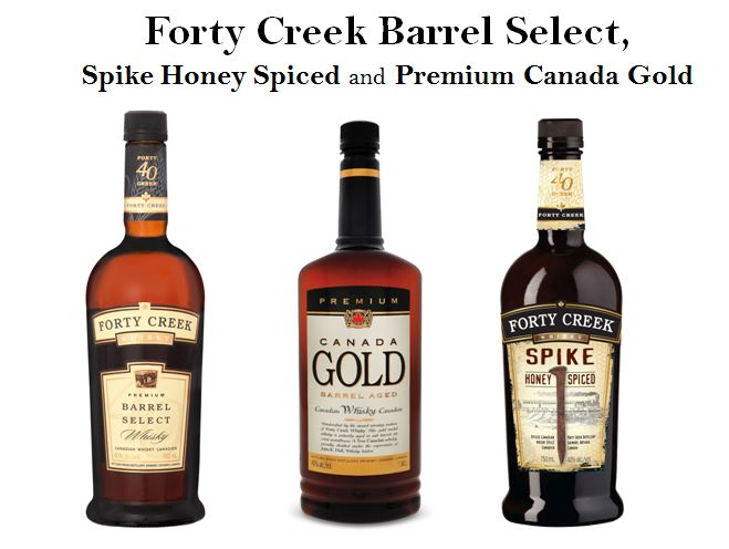 Wild Turkey & Campari North America's Canadian Whiskies; Forty Creek, Canafa Gold Premium and Forty Creek Spike Honey Spiced