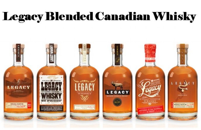 Legacy line of Canadian Whiskies