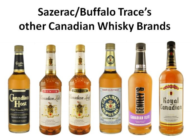Buffalo Trace's line of Economy Canadian Whiskies