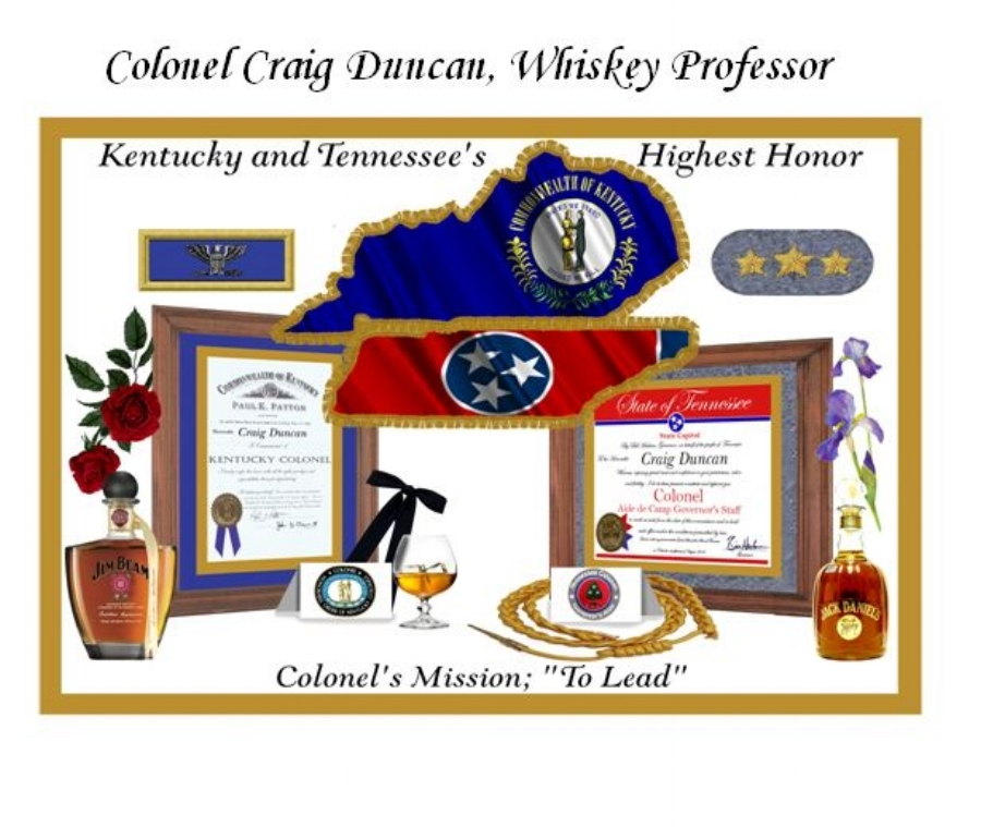 "Appointed     ""Colonel""     by both the   Governor of Kentucky   and the   Governor of Tennessee   as an Ambassador to all things within the State"