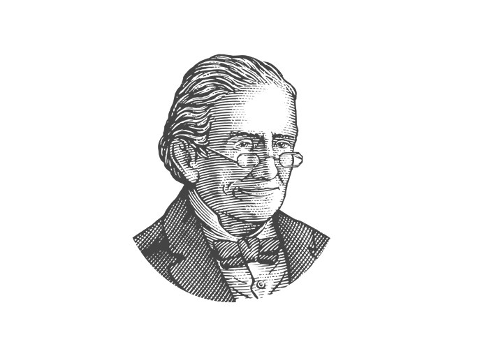 Sketch Photo of Basil Hayden, provided by Jim Beam Brands, Co. web site