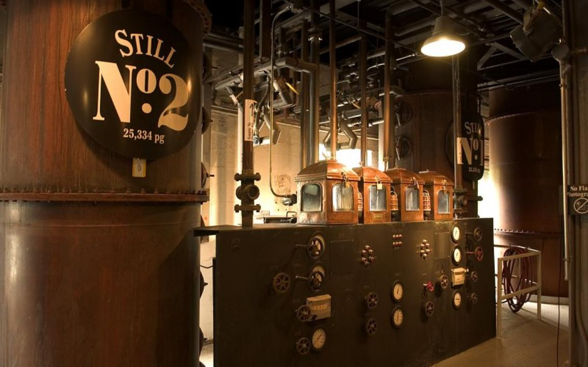 The distillery has five Column stills that are capable of   producing 25,334 proof gallons   per day.