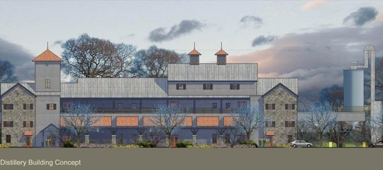 An artist rendering of the new   $115,000,000 Bulleit Distillery   in Shelbyville, Kentucky.