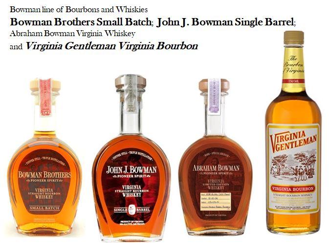 Bowman Distilleries Whiskey line