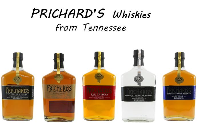 Prichard's line of Whiskies
