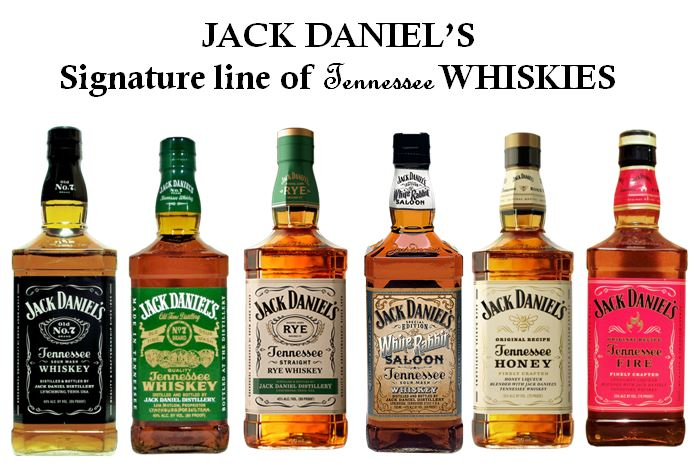 Jack Danie's iconic Square Bottles
