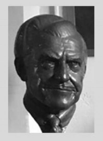 Photo of Oscar Getz bust, provided by Oscar Getz Museum web site