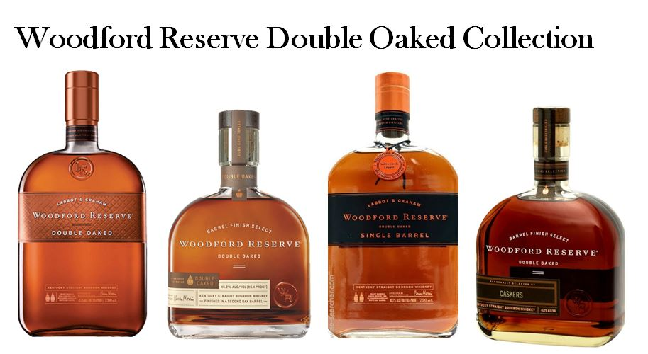 Woodford Reserve has perfected it Double Oaked Collection which includes the 1.)   Woodford Reserve Double Oaked Small Batch (   Old Package   )  , 2.)   Woodford Reserve Double Oaked Small Batch (   New Package   )  , 3.)   Woodford Reserve Double Oaked Single Barrel (   Old Package   )   and 4.)   Woodford Reserve Double Oaked Single Barrel (   New Package   )  .