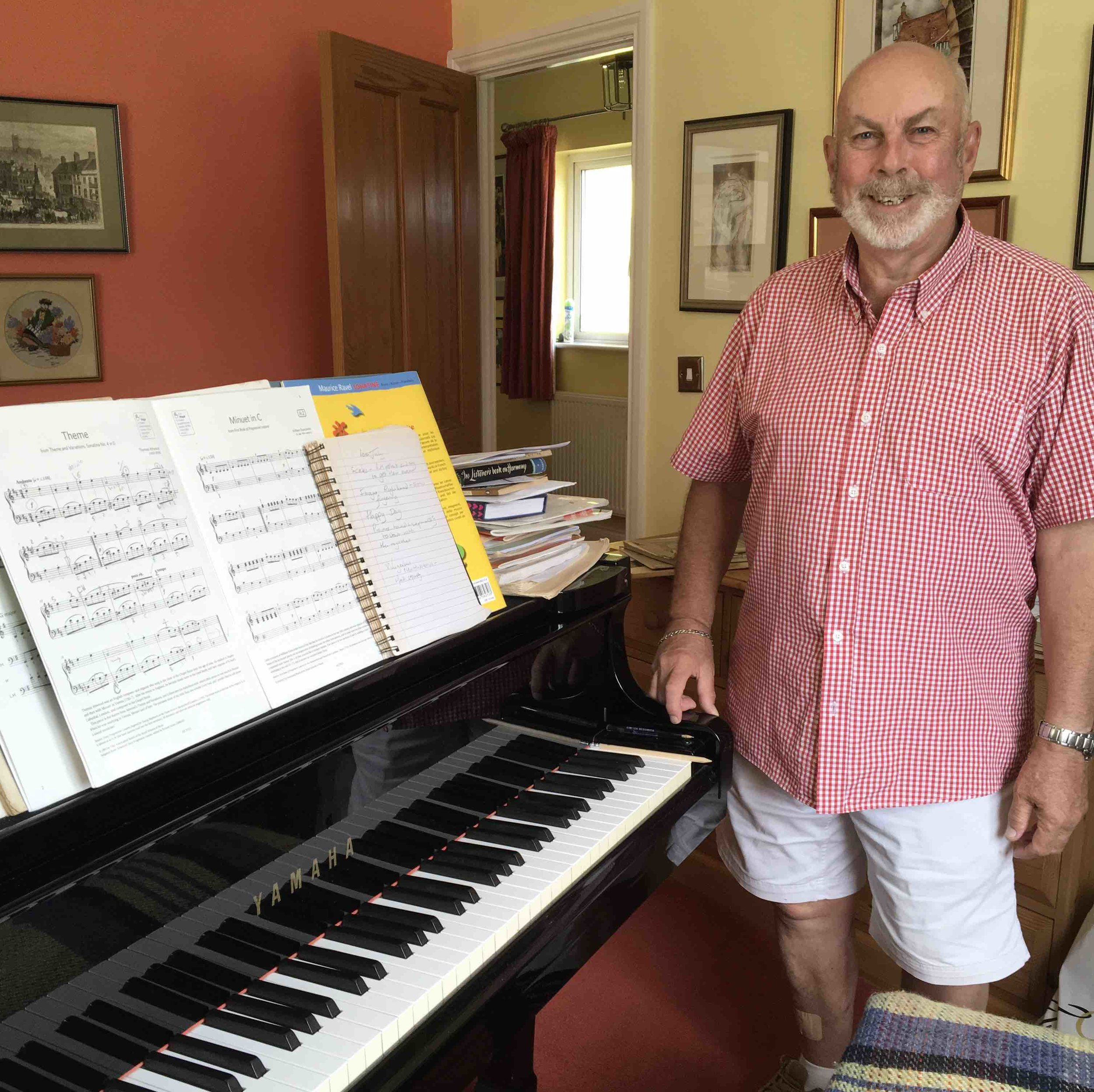 Piano teacher - David - is our fist piano teacher in Peacehaven and is much sought after. A student of John Lill's he has worked with the best. Having taught within several schools over his 35 years as their resident piano teacher, he has amassed a wealth of knowledge and experience.