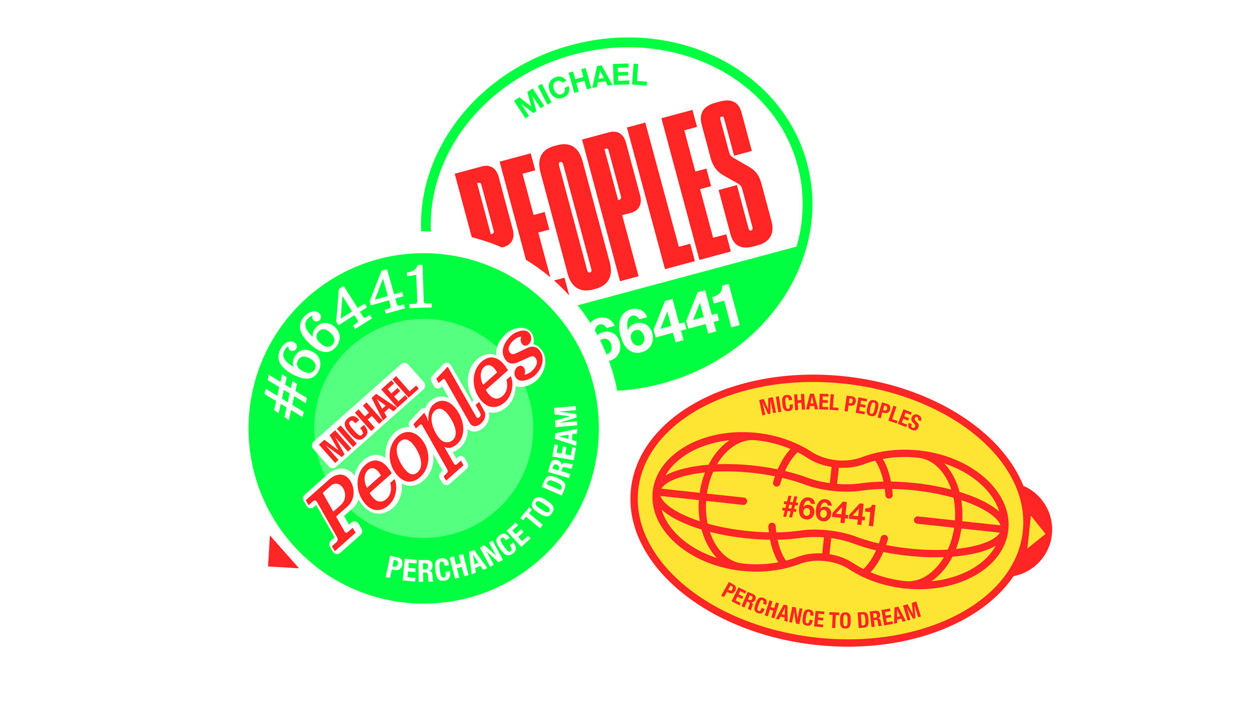 UICA Michael Peoples Stickers