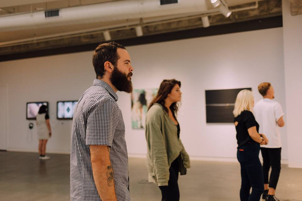 Gallery Patrons in UICA