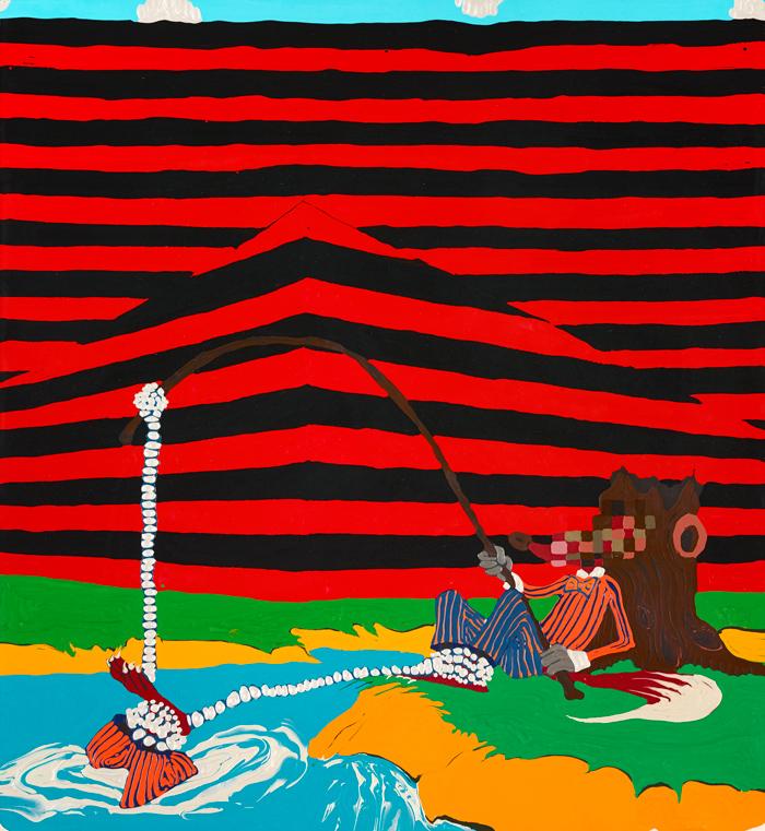 "96 Tears/24 Hours Adam Scott 2006 Acrylic on canvas 60"" x 42"""