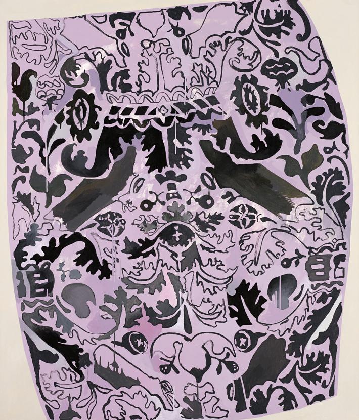 """Drug Rug Ron Ewert 2012 Acrylic on canvas 60"""" x 52"""""""