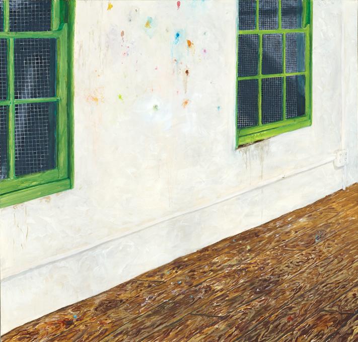 "Flourencence CJ Matherne 2005 Oil on canvas 48"" x 46"""
