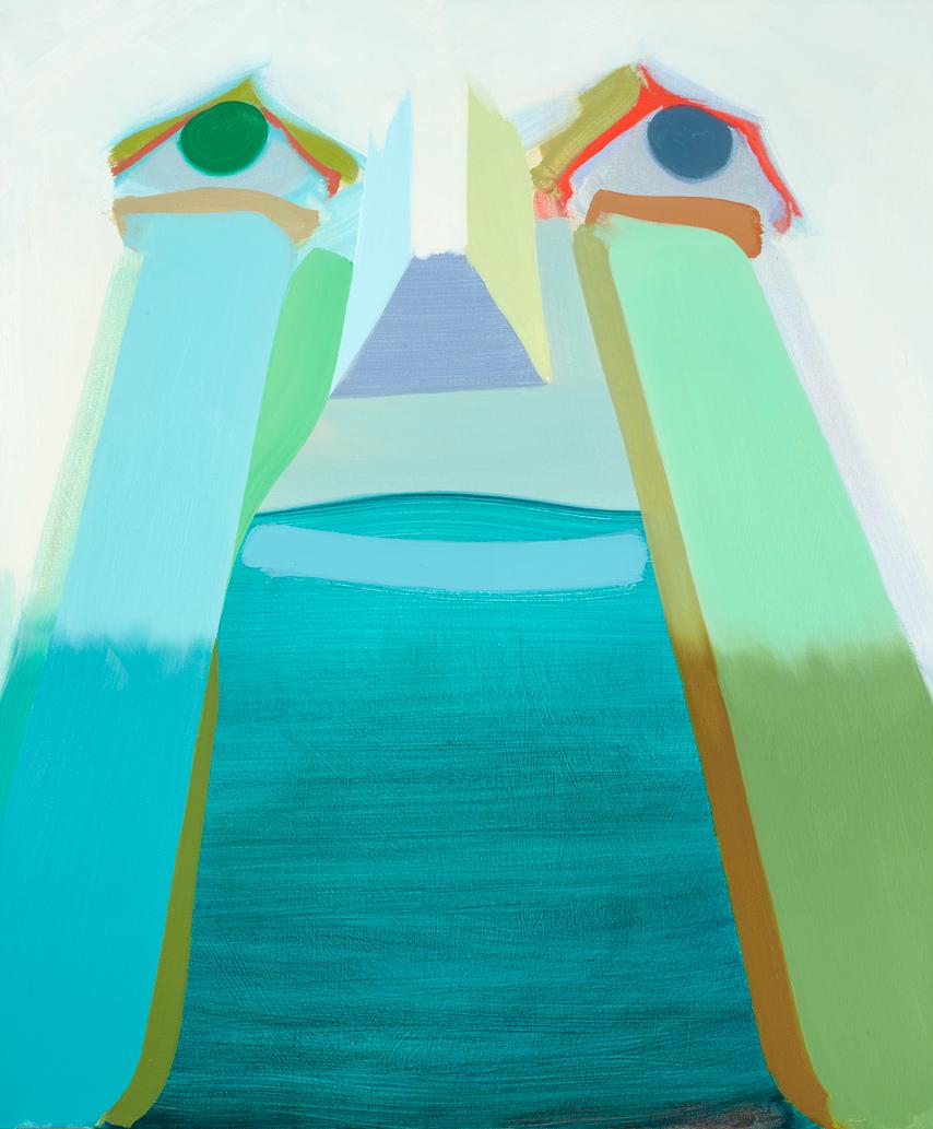 "Halflight Anders Oinonen 2007 Oil on canvas 36"" x 30"""