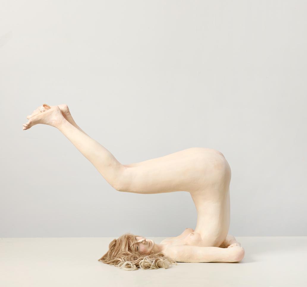 """Untitled Elizabeth Jaeger 2014 Hydrocol and ceramic 39"""" x 30"""" x 19"""""""