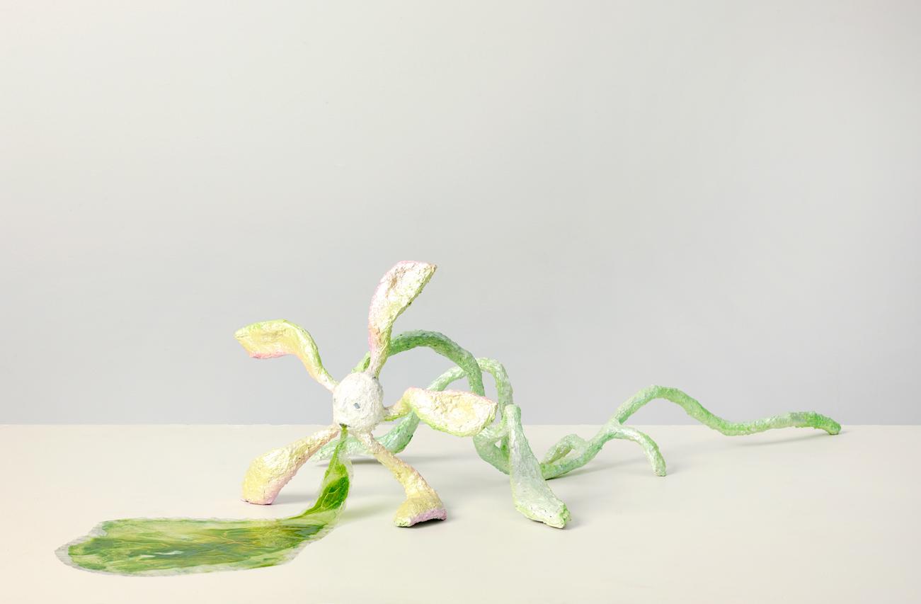 "Plucked Mindy Rose Schwartz 2013 Wire, paper mache, and plastic 18"" x 20"" x 36"""